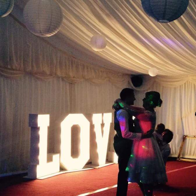Illuminated Letter For Hire Weddings Proms Parties North East